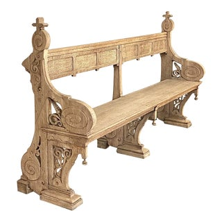 19th Century Gothic Revival Church Pew ~ Bench For Sale