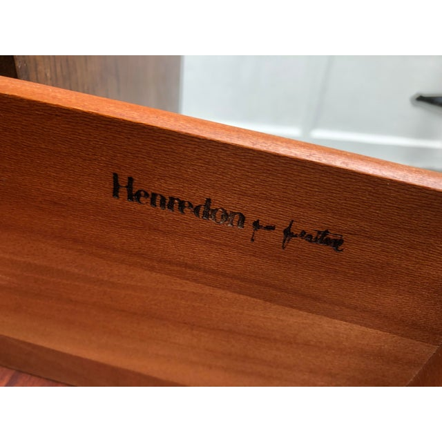"""Vintage 1980s Henredon Armoires from the """"Scene One"""" line of campaign style furniture. These are coming directly from an..."""
