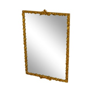 "Carvers Guild French Louis XV Style Gold Gilt Frame Beveled Wall Mirror ""Leaf & Berry"" For Sale"