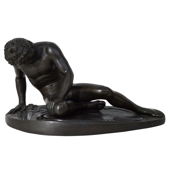 """19th Century """"The Dying Gaul"""" Bronze Statue Signed M Amadoi N 'Napoli' For Sale"""