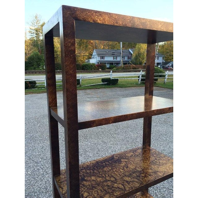 Faux Tortoise Shell Etagere by Lane - Image 4 of 5