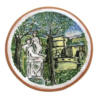 European Terracotta Decorative Hanging Plate For Sale