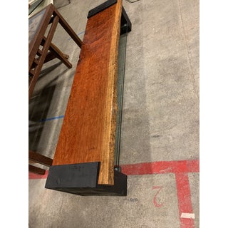 Custom Handcrafted African Rosewood + Glass Media Console/Bench Preview