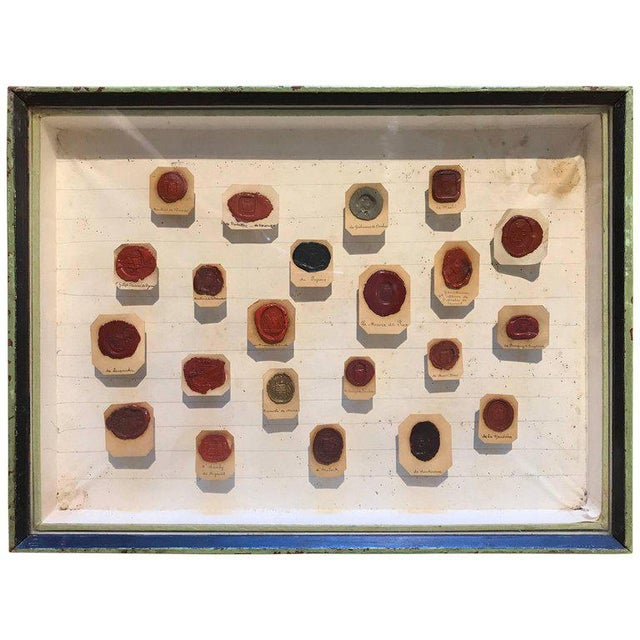 Glass Framed 18th Century French Wax Seals For Sale - Image 7 of 7