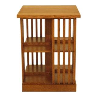 Stickley Mission Oak Revolving Bookcase For Sale