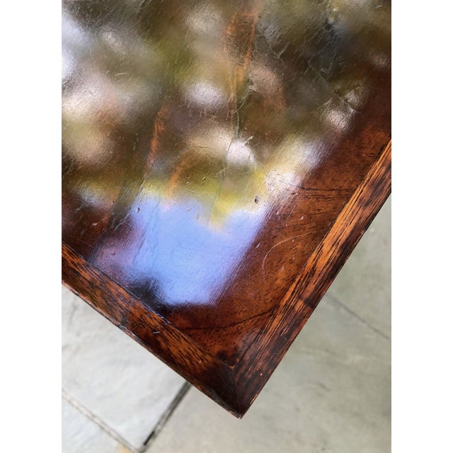 Wood Custom Flame Mahogany Collapsible Dessert or Serving Table For Sale - Image 7 of 10