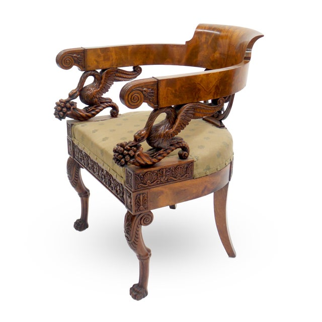 Wood Exceptional Early 19th Century Neopolitan Armchair For Sale - Image 7 of 7