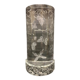 Steuben Butterfly Motif Crystal Paperweight For Sale