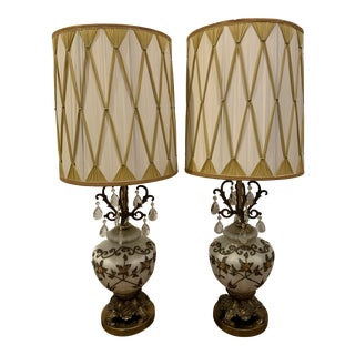 Vintage Falkenstein Lamps- a Pair For Sale