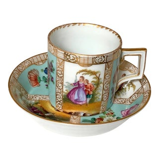 Meissen Coffee Can Cup and Saucer For Sale