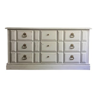 Vintage Distressed Dove Gray Wood Dresser