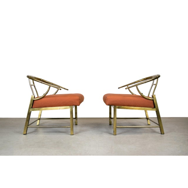 Brass Lounge Chairs by Mastercraft - Pair - Image 5 of 10