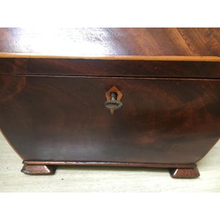 English Regency Mahogany Coffer Shaped Tea Caddy Box Preview