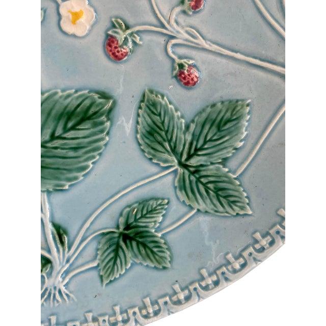 1940s Aqua Majolica Platter, Germany For Sale - Image 5 of 9