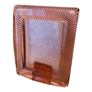 Vintage Modern Pink Glass Frame For Sale
