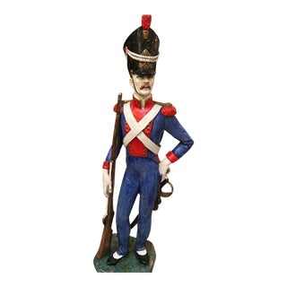 Red White and Blue Foreign Soldier Statue For Sale