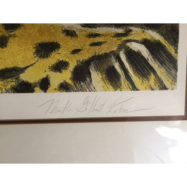 Huge Jaguar Lithograph by Martin Katon For Sale - Image 4 of 8