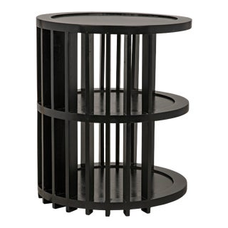 Morison Side Table in Hand Rubbed Black For Sale
