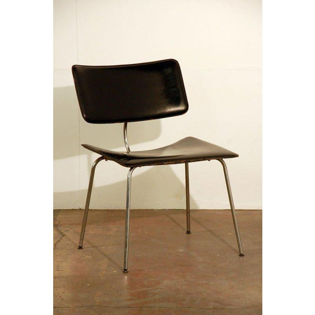 1970s Slender Italian Stitched Leather Lounge Chairs - a Pair For Sale In Los Angeles - Image 6 of 10