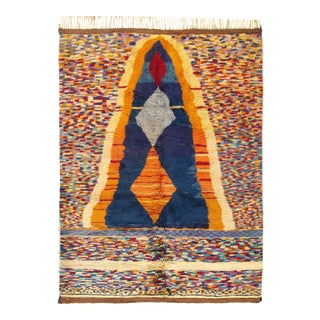 1970s Vintage Hand Knotted Rug For Sale