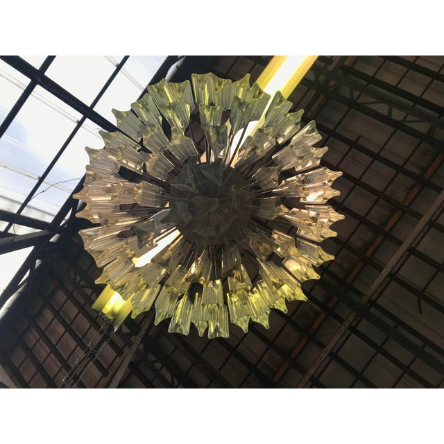 Murano 1960s Italian Murano Glass Prism Chandelier For Sale - Image 4 of 7