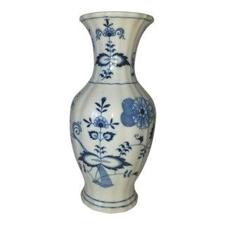 1960s Blue Danube Porcelain Vase For Sale