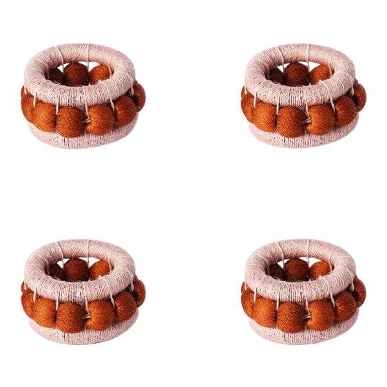 Berry Napkin Rings Blush & Ginger - Set of 4 For Sale