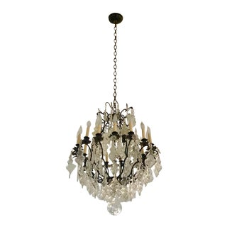 1940s French Crystal Chandelier For Sale