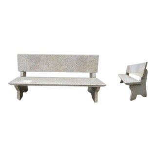 Pair of Granite Benches For Sale