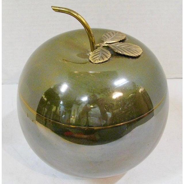 Rare Art-Deco c.1920-1930, Anodized aluminim ice Bucket in the shape of an apple. Made by Apollo Stuido, NY. Mercury glass...
