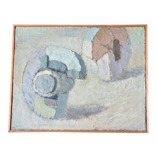 """""""Blocks on the Beach"""" Original Painting by Poul Winther For Sale"""