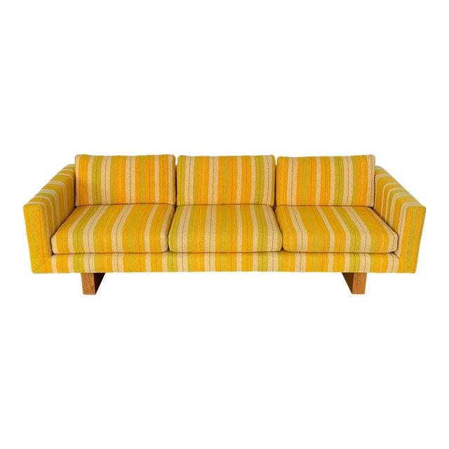 Harvey Probber Tuxedo Sofa With Oak Legs For Sale