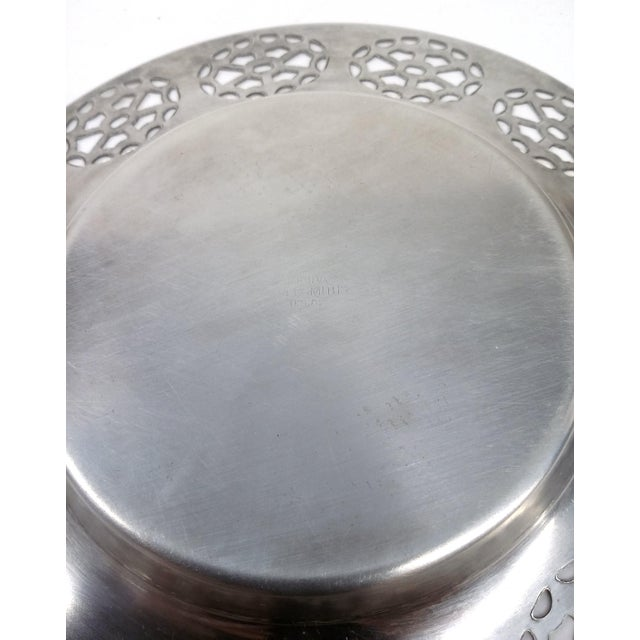 Oneida Silver Cutout Wine Plate - Image 7 of 10
