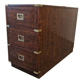 Drexel Campaign Style Dry Bar / Chest For Sale