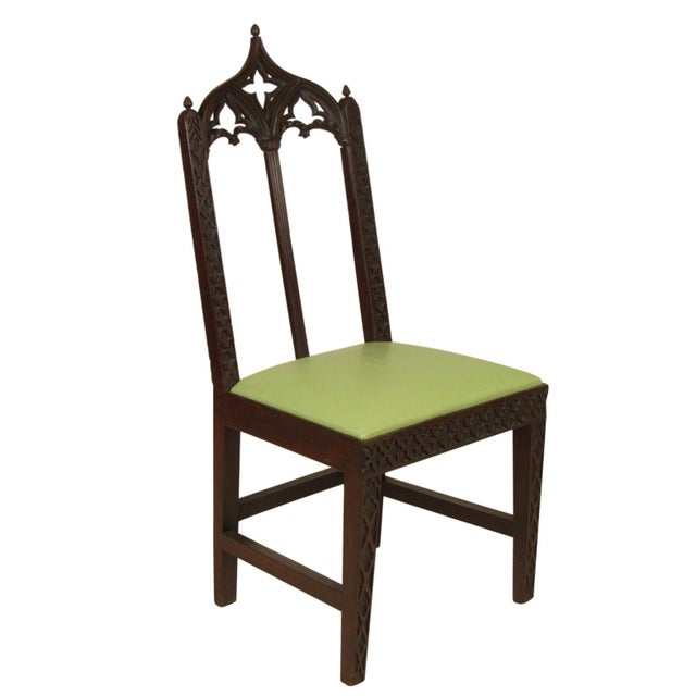 Gothic 19th Century. Vintage Gothic Dining Chairs - Set of 8 For Sale - Image 3 of 12