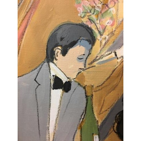 """Original """"Vintage Wine"""" Painting by Isaac Maimon For Sale - Image 7 of 11"""