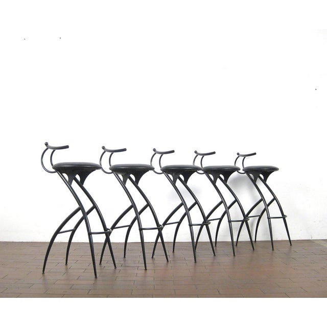 Postmodern Italian Bar Stools- Set of 5 For Sale - Image 10 of 10