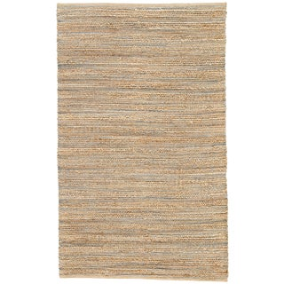 Jaipur Living Canterbury Natural Solid Beige/ Blue Area Rug - 5′ × 8′ For Sale