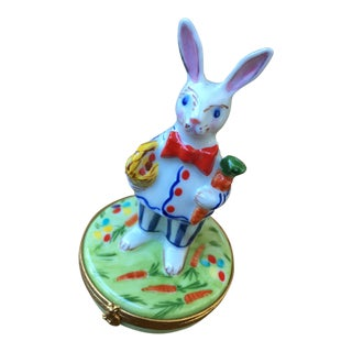 Vintage Bunny Limoges Box - Limited Edition For Sale