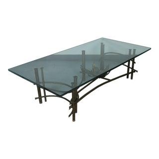 Brutalist Lotus Coffee Table For Sale