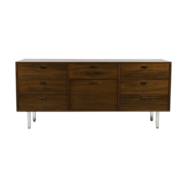 Mid-Century Harvey Probber Walnut Credenza For Sale