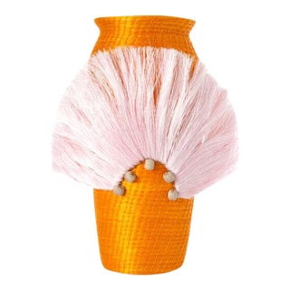 Fanned Out Small Tall Vase Mango For Sale