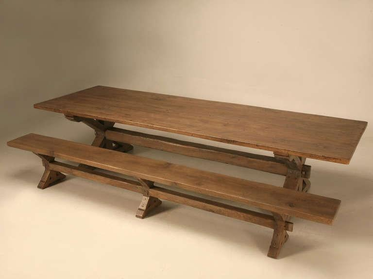 Custom Made Rift White Oak Dining Table In A Pickled Grey Finish   Image 7