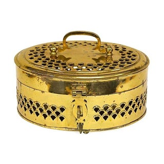 Oversized Brass Cricket Box