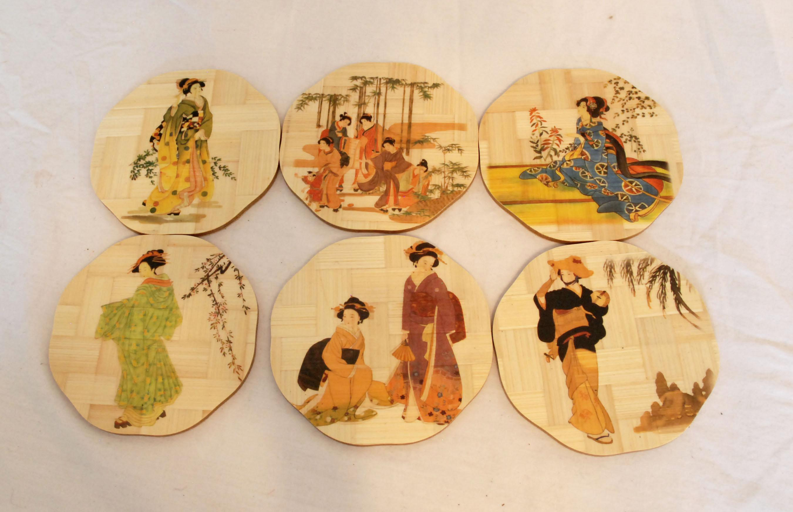 Mid-Century Chinese Bamboo Plates and Coasters - Set of 17 - Image 7 of  sc 1 st  Chairish & Mid-Century Chinese Bamboo Plates and Coasters - Set of 17 | Chairish