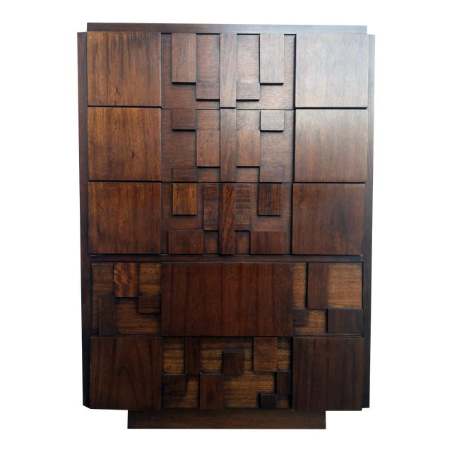 Paul Evans for Lane Brutalist Tallboy Dresser - Image 1 of 3