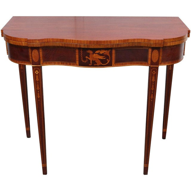 Federal Style Mahogany Game Table For Sale - Image 9 of 9