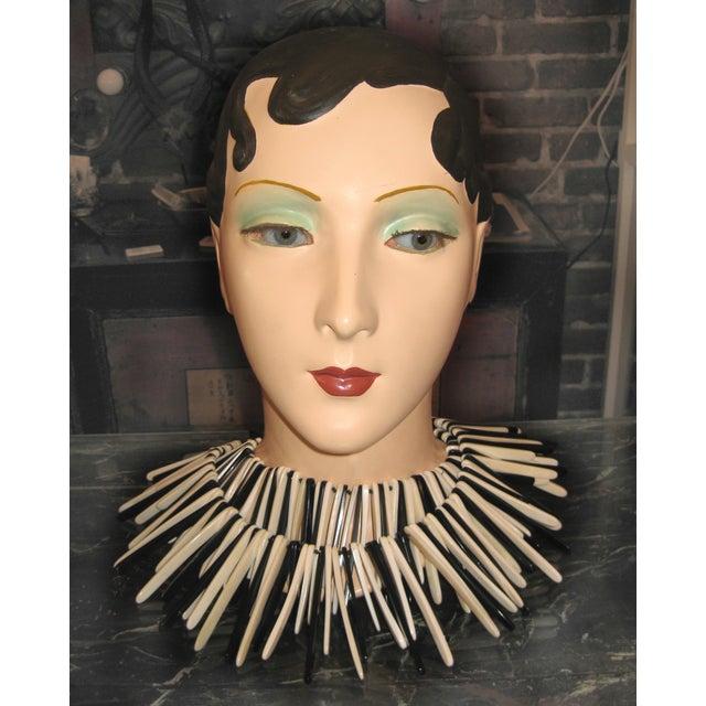 Brunette Vintage Mannequin Head - Image 4 of 6