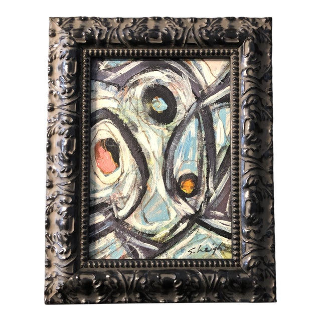 """Original Contemporary Small Stephen Heigh Abstract Painting """"All Together Now"""" For Sale"""