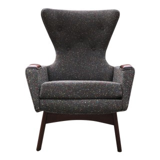 1960's Vintage Adrian Pearsall Wingback Chair Mid Century Modern For Sale
